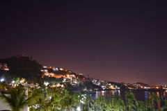Manzanillo at Night. Looking out at Manzanillo,  Colima, Mexico at night Stock Photos