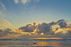 Manzanita Beach, OR Sunset royalty free stock photography