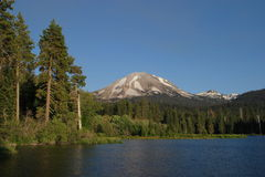Manzanita Lake. Lassen Peak and Manzanita Lake - Lassen Volcanic National Park Royalty Free Stock Photography