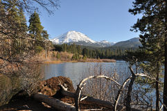 Manzanita Lake in Lassen National Park Stock Photography