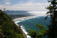 Manzanita, Oregon as seen from Neahkahnie Mountain Stock Photography