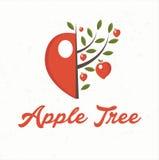 manzano con la fruta de la manzana Fotos de archivo libres de regalías