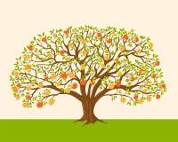 Manzano con las manzanas rojas y amarillas libre illustration