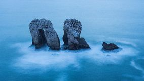 Manzano - Liencres (Cantabrië, Spanje) Stock Afbeelding