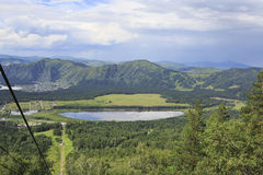 Manzherok lake in Altai. Stock Image