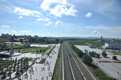 Manzhouli railway lines abroad Stock Image