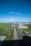 Manzhouli railway lines abroad Stock Photography