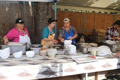 Cooks At The Chestnuts Festival Royalty Free Stock Images