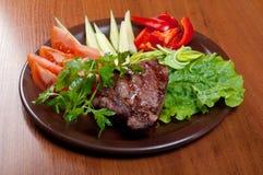 Manzo cotto - bistecca Fotografie Stock