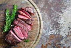 Manzo cucinato, vista superiore fotografia stock