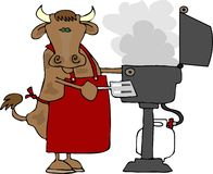 Manzo del BBQ Fotografia Stock Libera da Diritti