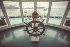 Manzo della nave nella sala di controllo Immagine Stock Libera da Diritti