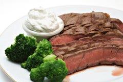 Manzo e Broccolli immagine stock