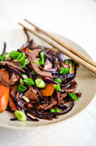 Manzo e verdure caldi Immagine Stock
