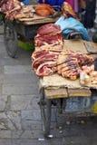Manzo nella via di Lhasa Immagini Stock Libere da Diritti
