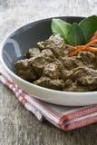 Manzo Rendang, alimento indonesiano Fotografia Stock Libera da Diritti