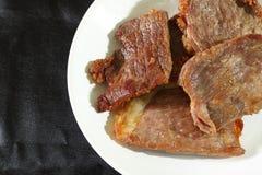 Manzo salato fritto Fotografia Stock