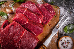 Manzo, vitello Filetto crudo fresco fotografia stock