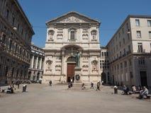 Manzonistandbeeld in Milaan Stock Foto's