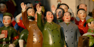 Mao. Figurines of Chinese communist figures Royalty Free Stock Photography