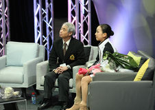 Mao ASADA and Nobuo SATO Stock Images