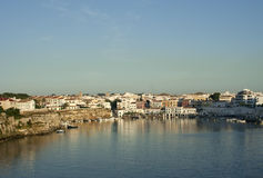 Mao gulf in Menorca island, raw Royalty Free Stock Photo