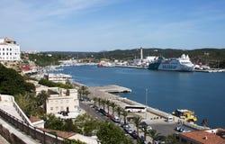 Mao harbour in Menorca Stock Photos