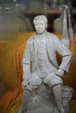 Mao porcelain figurine. Young mao zedong porcelain figurines Royalty Free Stock Photography