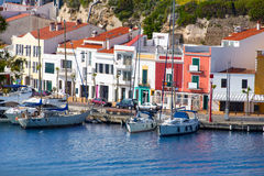 Mao Port di Mahon in Menorca a Balearic Island fotografia stock libera da diritti