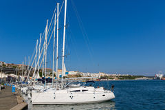 Mao Port of Mahon in Menorca at Balearic islands Royalty Free Stock Image