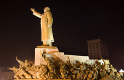 Mao Statue With Heroes Zhongshan Shenyang China Stock Photo