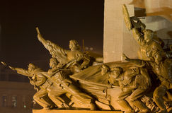 Mao Statue Heroes Zhongshan Square Shenyang China Stock Image