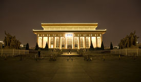 Mao Tomb Tiananmen Square Beijing China Night Royalty Free Stock Image