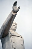 Mao Tse-tung. The statue of Mao Zedong waved his hands in the sky Royalty Free Stock Images