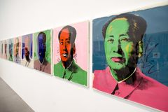 Mao Tse-Tung - sérigraphie par Andy Warhol photos stock