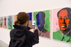 Mao Tse-Tung - screenprint av Andy Warhol Royaltyfria Bilder
