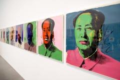 Mao Tse-Tung - screenprint av Andy Warhol Arkivfoton