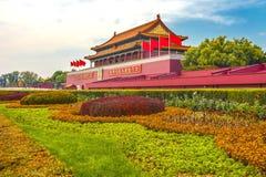 Mao Tse Tung Tiananmen Gate Entrance Gugong la Città proibita Palac fotografie stock