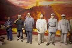 MAO WAX FIGURE. MAO  WAX FIGURE  in Dalian Golden Pebble Beach Wax Museum Royalty Free Stock Image