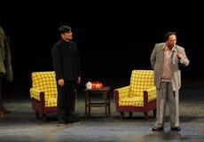 Mao Zedong και jiaying-σκίτσο Tian γραμματέων των αντι-δωροδοκία-ανθρώπων στο μεγάλο στάδιο Στοκ Εικόνες