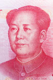 Mao Zedong on 100 chinese yuan banknote. Royalty Free Stock Images