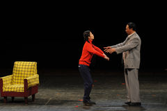 Mao Zedong and daughter-in-law-Sketch of anti-corruption-People in the big stage Stock Photos