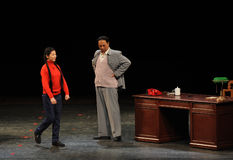 Mao Zedong and daughter-in-law-Sketch of anti-corruption-People in the big stage Stock Images
