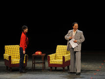 Mao Zedong and daughter-in-law-Sketch of anti-corruption-People in the big stage Stock Photo