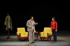 Mao Zedong et fille-dans-loi-croquis des anti-corruption-personnes à la grande étape Image libre de droits