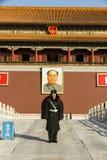 Mao Zedong et solider Photographie stock libre de droits