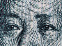 Mao Zedong eyes on chinese 10 yuan banknote macro, China money c Royalty Free Stock Photo
