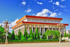 Mao Zedong mausoleum on Tiananmen Square- the third largest squa Royalty Free Stock Photo