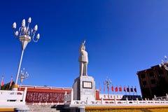 Mao Zedong monument i horisontalsikt Arkivfoton
