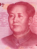 Mao Zedong no macro da cédula do yuan de 100 chineses, fim do dinheiro de China Fotos de Stock Royalty Free